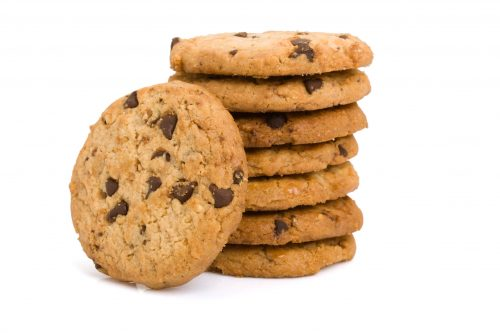 Pile of chocolate chip cookies